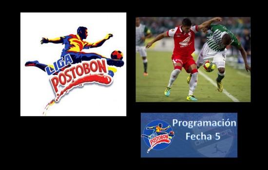 Conozca la Programación de la Fecha 5 de la Liga Postobón 2013-2