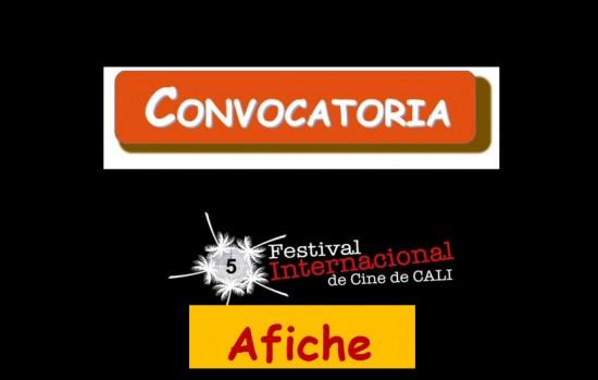 Convocatoria diseño afiche Festival Internacional de Cine de Cali 2013