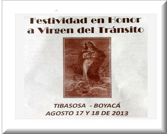 Festividad de la Virgen del Tránsito 2013 en Tibasosa