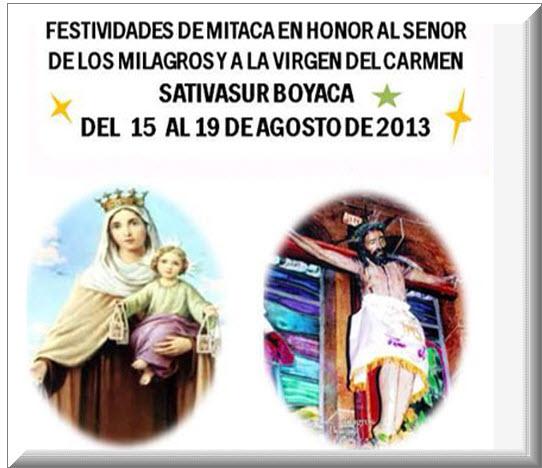 Festividades de Mitaca en Sativasur, Boyacá 2013