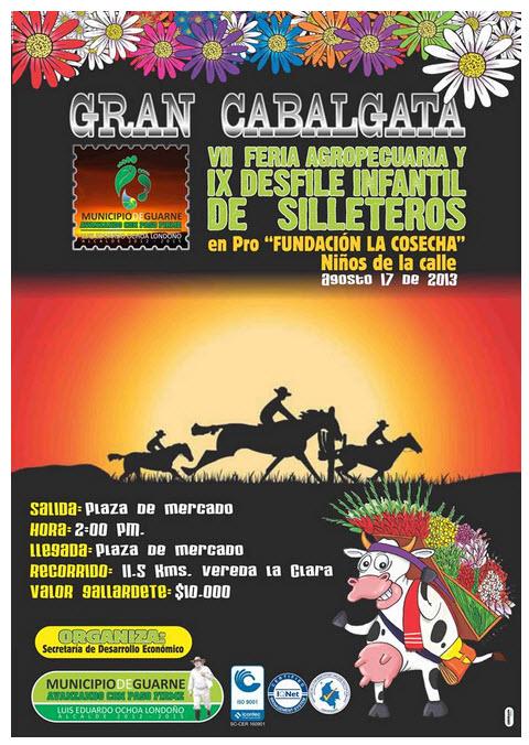 Gran Cabalgata Feria Agropecuaria y Desfile Infantil de Silleteros 2013