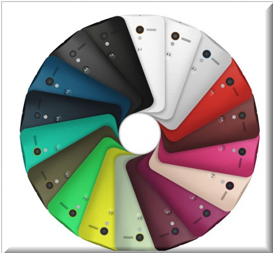 Motorola Moto X, Colores