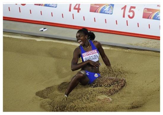Oro para Colombia Caterine Ibargüen, campeona mundial en Salto triple