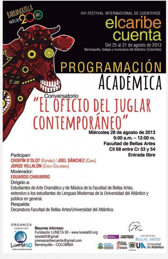 Programación académica Festival Internacional de Cuenteros 2013