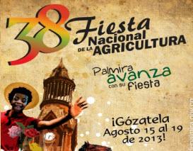 Programación oficial de la Fiesta Nacional de la Agricultura 2013 en Palmira