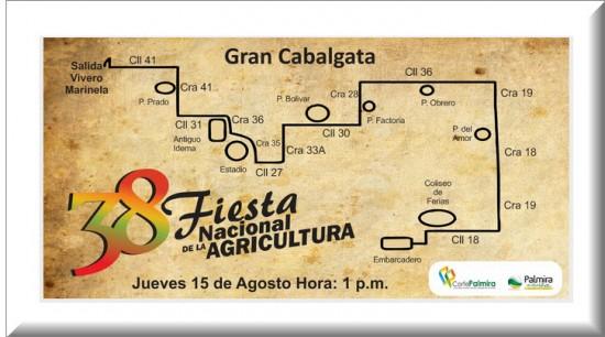 Recorrido Cabalgata Fiesta Nacional de la Agricultura 2013
