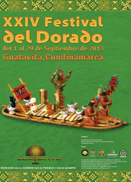 Afiche oficial Festival del Dorado en Guatavita 2013