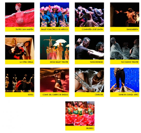 Compañías Bienal Internacional de Danza 2013