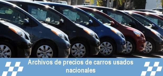 Precios de carros usados nacionales en Colombia