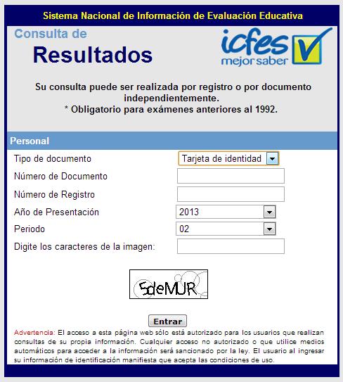 consulta resultados pruebas icfes