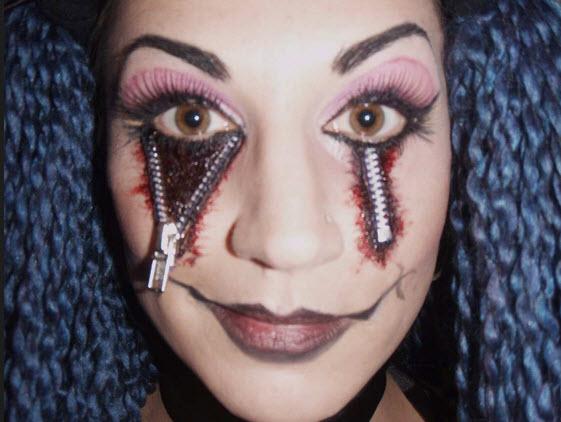mas maquillaje para mujer en halloween