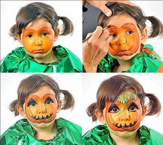 paso a paso maquillaje para niños