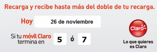 pico y placa de comcel claro hoy 26 de noviembre de 2013