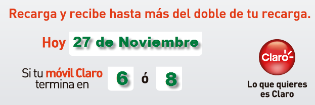 pico y placa de comcel claro hoy miercoles 27 de noviembre de 2013