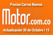 Precios revista motor carros nuevos, octubre 30 de 2013