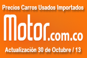 Precios carros usados importados, para octubre 30 de 2013