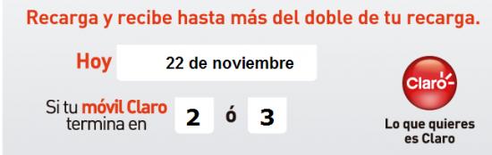 pico y placa de Comcel para noviembre 22 de 2013