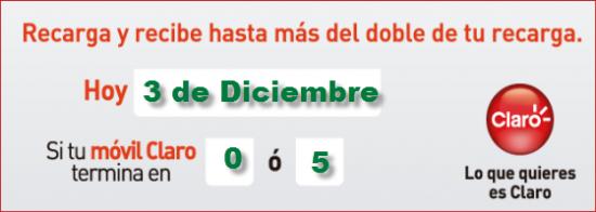 Pico y placa de Comcel Claro martes 3 de diciembre 0 ó 5