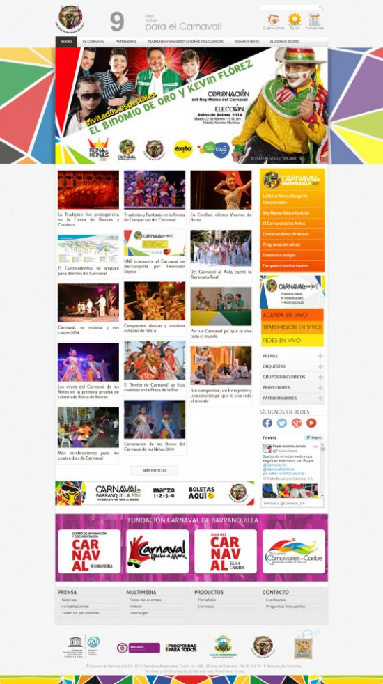 Carnaval de Barranquilla 2014 - Programación y eventos