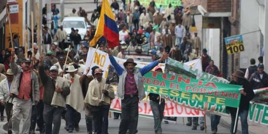 Paro agrario, protestas 2014