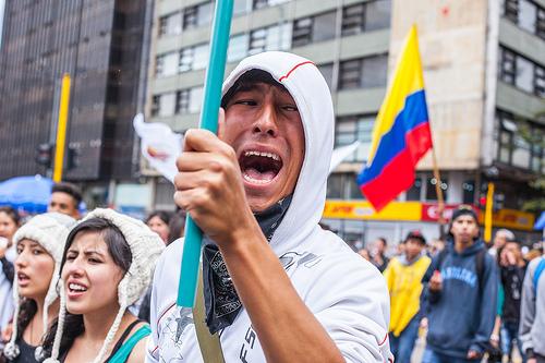 Paro agrario Colombia 28 de abril 2014