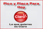 Pico y Placa Comcel Claro, domingo 27 de Abril de 2014