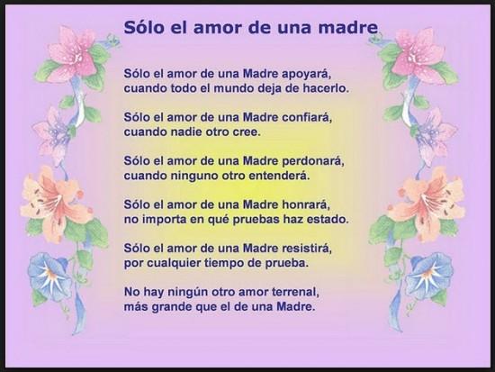 poemas y mensajes para el día de la madre