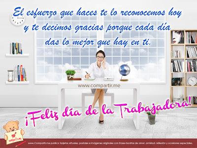 Postales y tarjetas con mensajes para compartir el día del trabajo