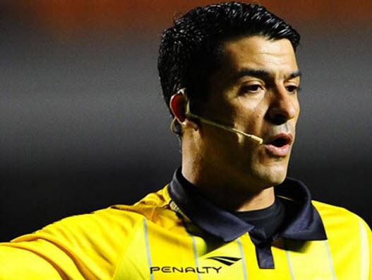 Arbitro Sandro Ricci, que estará en brasil 2014