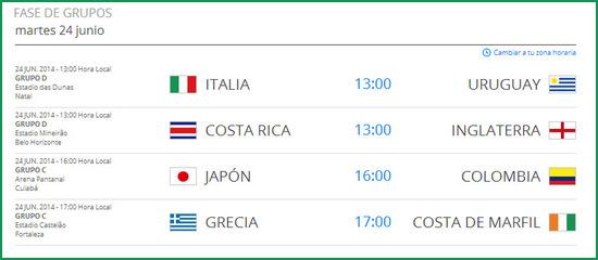 Tercer partido de colombia en el mundial de futbol 2014