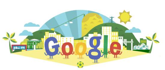 Doodle dedicado a la copa mundial de futbol de brasil 2014