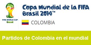 Fechas de los partidos de Colombia en el mundial de Brasil