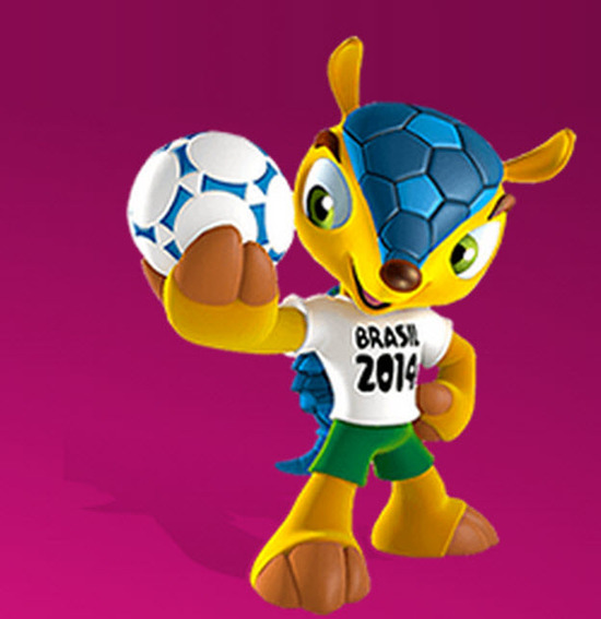 Fuleco es la mascota oficial del mundial de futbol brasil 2014