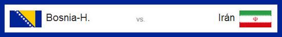 Ver partido entre bosnia vs iran hoy 25 de junio de 2014