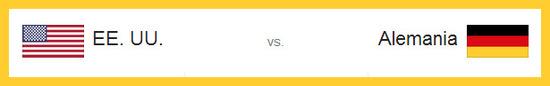 Partidos - Alemania vs Estados Unidos hoy jueves 26 de junio de 2014