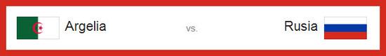 Partido Argelia vs Rusia hoy jueves 26 de junio de 2014