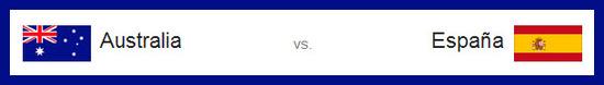partido australia vs españa el lunes 23 de junio de 2014