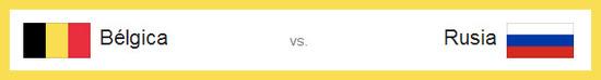 Partido Bélgica vs Rusia para el domingo 22 de junio de 2014