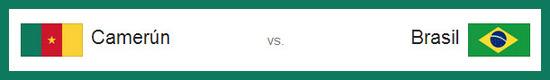 Partido Camerún vs brasil lunes 23 de junio de 2014