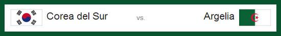 partido corea del sur vs argelia domingo 22 de junio de 2014