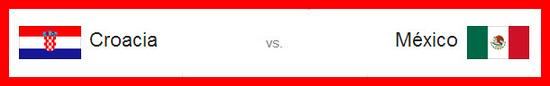Partido Croacia vs México hoy lunes 23 de junio de 2014