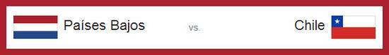 partido Holanda vs Chile el lunes 23 de junio de 2014