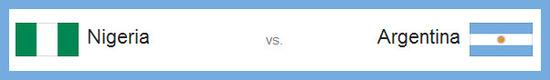 partido Nigeria vs Argentina hoy  miércoles 25 de junio de 2014