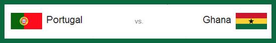 Partidos entre Portugal vs Ghana hoy jueves 26 de junio de 2014