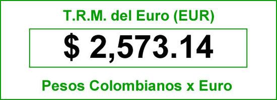 TRM del Euro hoy 2014-06-19