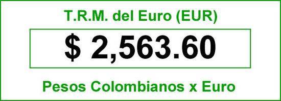 TRM del Euro hoy jueves 2014-06-26