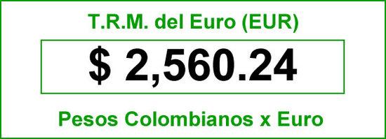 TRM del Euro hoy 2014-06-17