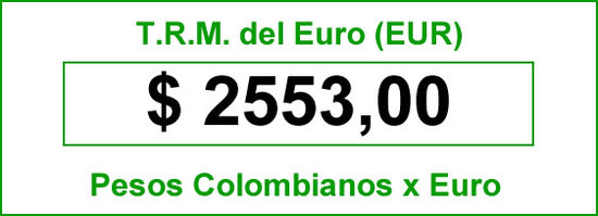 Ver precio del Euro hoy en Colombia 2014-06-11