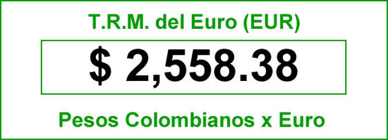 TRM del Euro hoy 2014-06-21