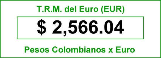 TRM del Euro hoy sábado 2014-06-28